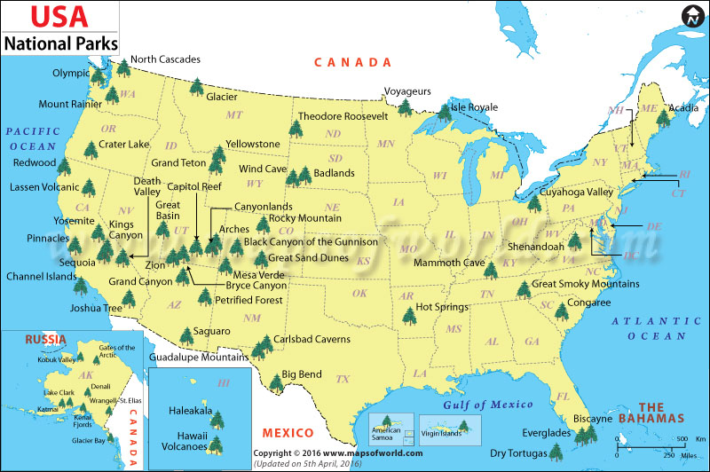 Guide to National Parks: A Complete List with Links to Blog ...
